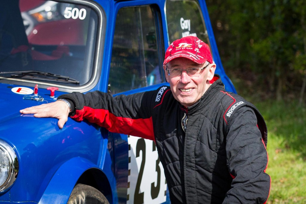 Gary in the Croft Hill Climb paddock during his 500th event