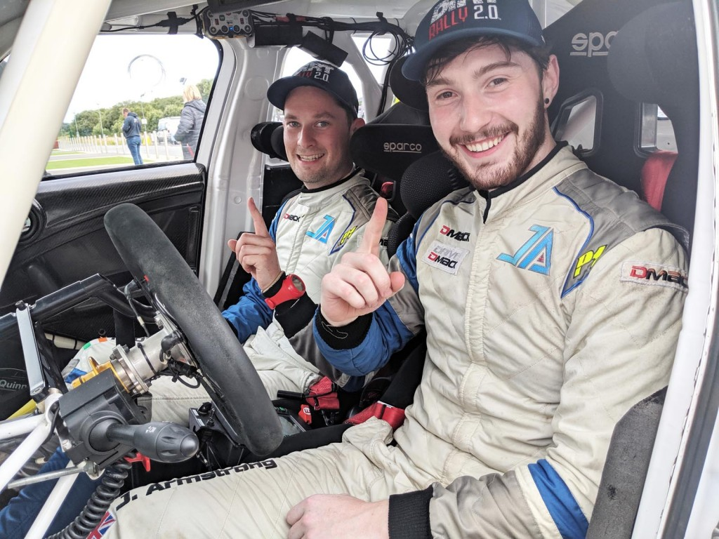 Event winners Jon Armstrong and Noel O'Sullivan in their Mini WRC. picture:Jonathan MacDonald