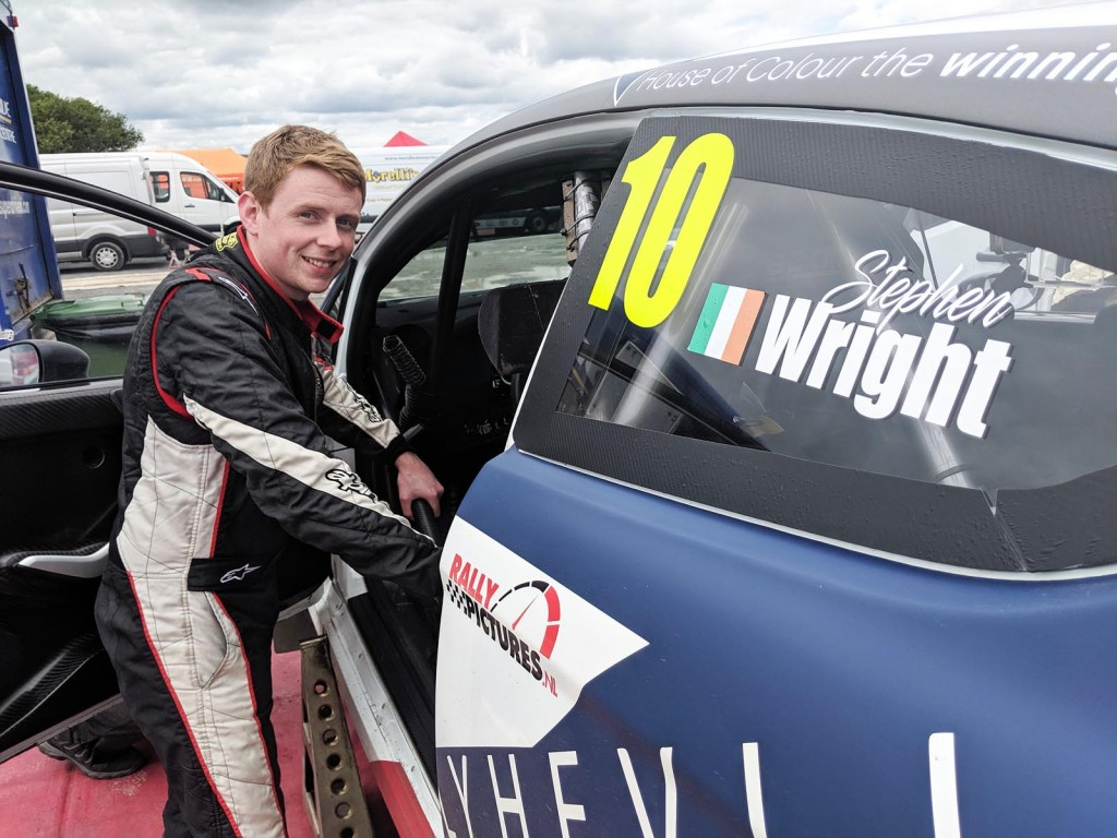 Top NI Championship points scorer Stephen Wright beside his Fiesta R5. picture: Jonathan MacDonald