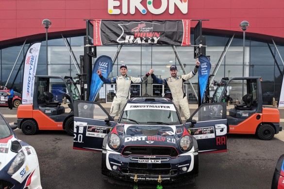 Event winners Jon Armstrong and Noel O'Sullivan with their Mini WRC. picture:Jonathan MacDonald