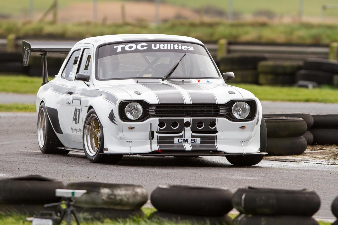 Fastest Saloon driver in this year's SW Adair Tyres Northern Ireland Sprint Championship, Gerard O'Connell, in his RSR Ford Escort MkI | Photo: GRAHAM BAALHAM-CURRY