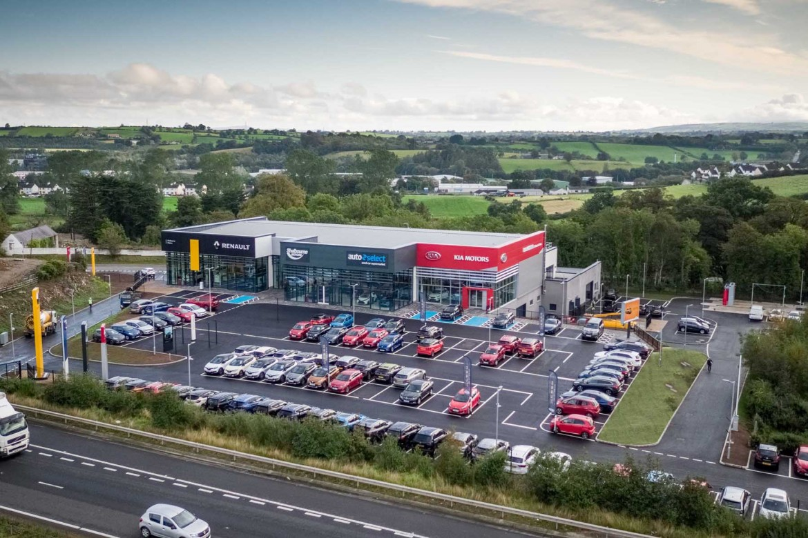 Shelbourne Motors' new £5m multi-franchise facility in Newry.