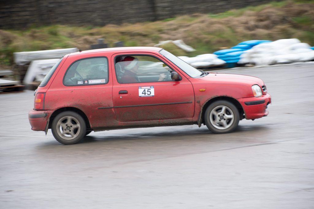 Ben McKee in his Nissan Micra.